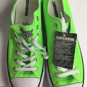 Converse 11.5 green gecko canvas